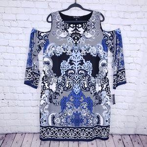 INC International Concepts 1x lacey scroll dress